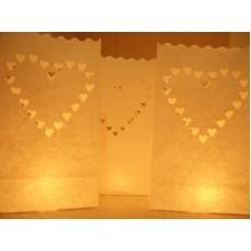 """Žvakių maišeliai """"Širdis"""", 10 vnt."""